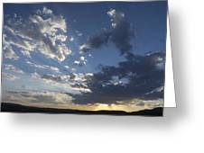 Sunset In New Mexico Greeting Card