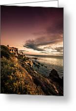 Sunset In Newport Beach Greeting Card