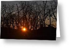 Sunset In Olde Town Greeting Card