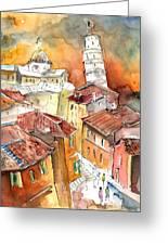 Sunset In Pisa Greeting Card