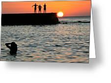 Sunset In Porto Da Barra Greeting Card