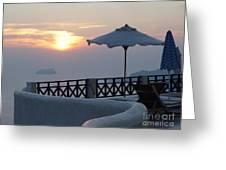 Sunset In Santorini Greeting Card