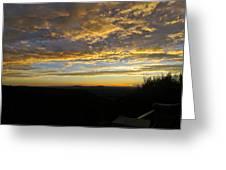 Sunset In Taos Greeting Card