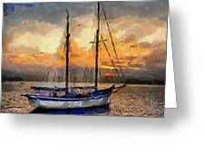 Sunset In The Bay Greeting Card