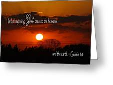Sunset In The Beginning Greeting Card