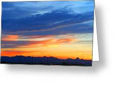 Sunset In The Black Mountains Greeting Card