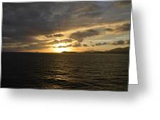 Sunset In The Caribbean Greeting Card