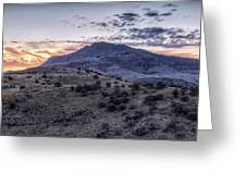 Sunset In The Davis Mountains Greeting Card