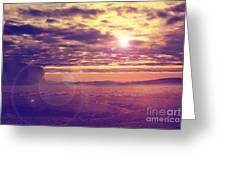Sunset In The Desert Greeting Card by Jelena Jovanovic