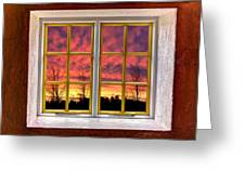 Sunset In The Garden Greeting Card