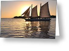 Sunset In The Keys Greeting Card