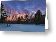 Sunset In The Park Greeting Card