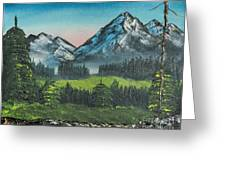 Sunset In The Valley Greeting Card