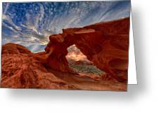 Sunset In The Valley Of Fire Greeting Card