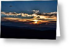 Sunset In The West Greeting Card