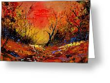 Sunset In The Wood Greeting Card