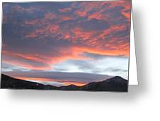 Sunset In Vail Colorado Greeting Card
