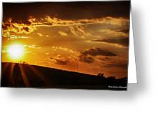 Sunset In Vernon County Greeting Card