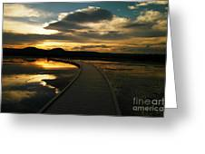 Sunset In Yellow Stone Greeting Card
