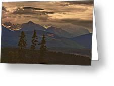 Sunset In Yoho Greeting Card