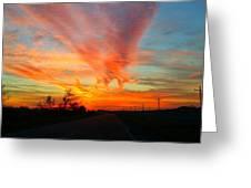 Sunset Iowa Greeting Card by Kendra Sorum