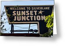 Sunset Junction Greeting Card