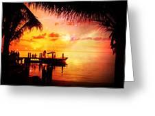 Sunset Key Largo Florida - 2 Greeting Card
