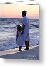 Sunset Kids Greeting Card