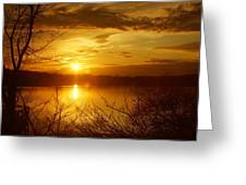 Sunset Lake Galena Greeting Card