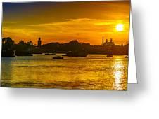 Sunset Lake Greeting Card