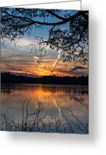 Sunset Lake Horicon Lakehurst New Jersey Greeting Card