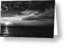 Sunset Lake Ontario Greeting Card