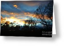 Sunset - Late Fall Greeting Card