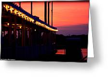 Sunset Lights  Greeting Card