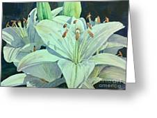 Sunset Lily Greeting Card