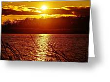 Sunset Love At Crosswinds Greeting Card