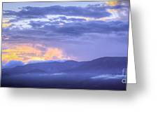 Sunset Low Clouds Greeting Card