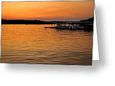 Sunset Marina Greeting Card
