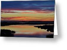 Sunset Marsh Greeting Card