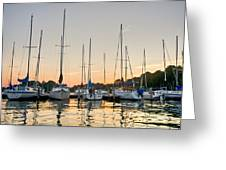 Sunset Masts Greeting Card