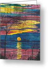 Sunset Melody Greeting Card by Beverly Marshall