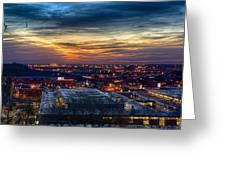 Sunset Metro Lights And Splendor Greeting Card