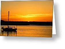 Sunset Morro Bay California Greeting Card