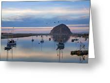 Sunset Morro Bay Greeting Card