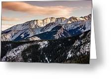 Sunset Mountains Greeting Card