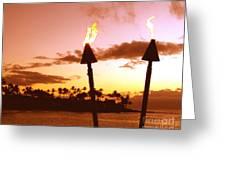 Sunset Napili Maui Hawaii Greeting Card