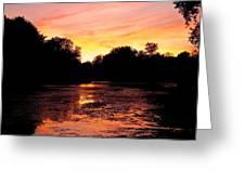 Sunset Near Rosemere - Qc Greeting Card