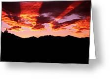 Bitterroot Sunset Greeting Card
