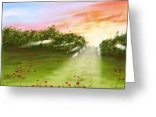 Sunset Of Spring Greeting Card