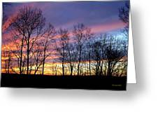 Sunset Of The Century Greeting Card